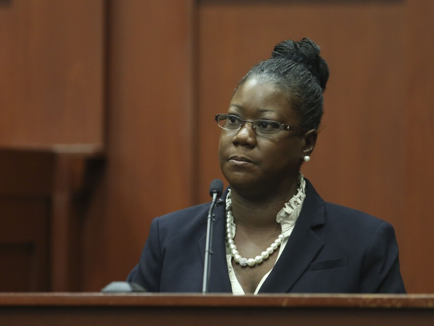 Trayvon Martin's mother, Sybrina Fulton, testifies Friday in Sanford, Fla.