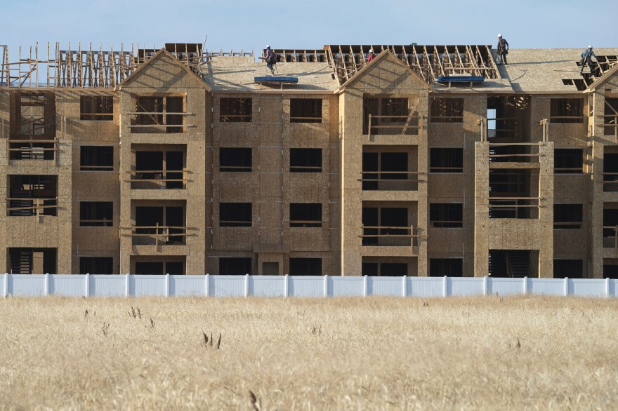 New construction rises over an empty field in Meridian, a suburb of Boise, Idaho. Today, home values have rebounded, but people who want to buy a new home are often priced out of the market.