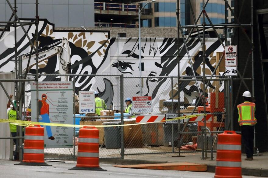 "Gov. Greg Abbott deemed construction workers ""essential"" during the coronavirus pandemic."