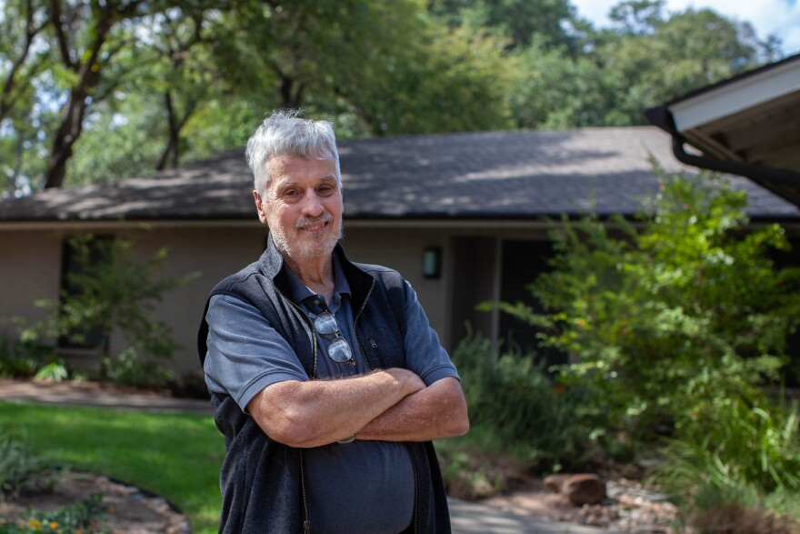 Calvin Johnson, a University of Texas professor of corporate and business law, commuted to work with Elizabeth Warren and her husband Bruce Mann during his first semester of teaching at The University of Texas at Austin. Here, Johnson is photographed outside of Elizabeth Warren's home she rented in 1980's in northwest Austin on Wed., Oct. 09, 2019.