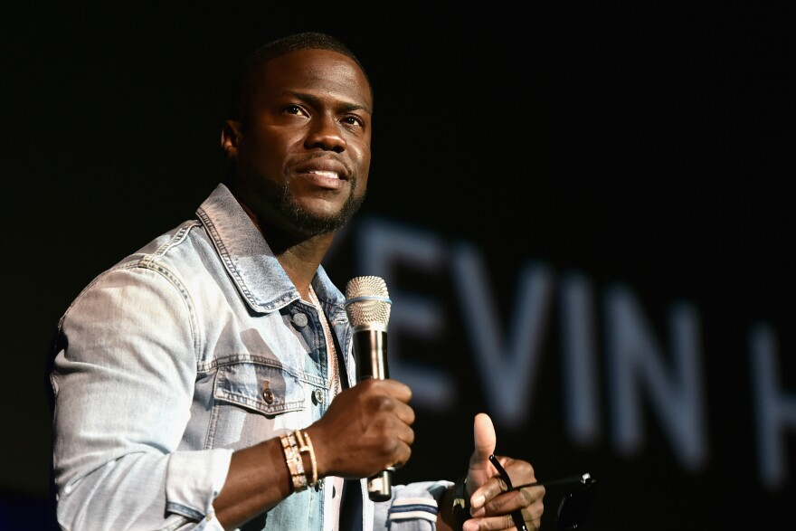 Kevin Hart was the most successful comedian last year. He's seen here speaking at the official convention of the National Association of Theatre Owners in Las Vegas.