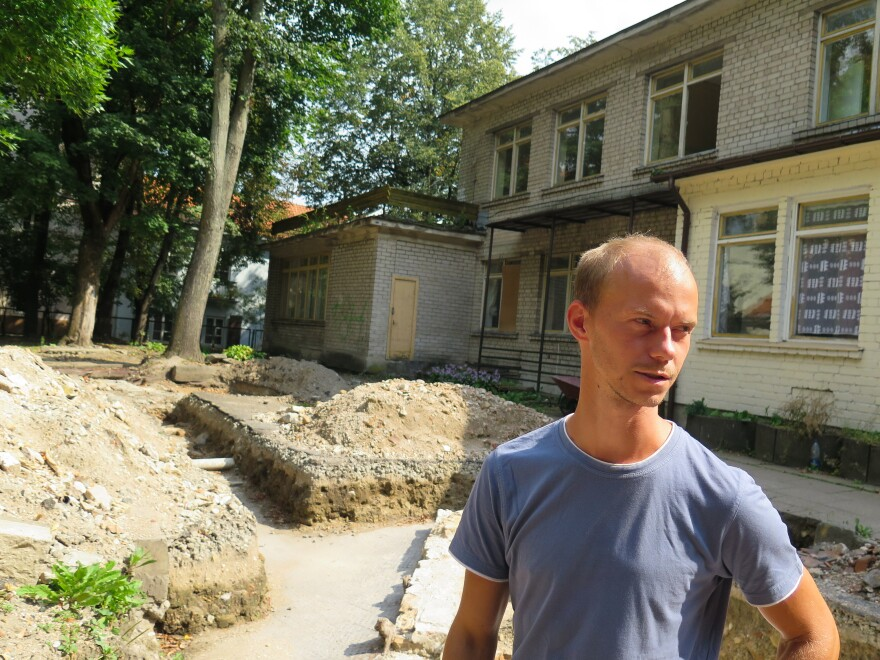 Justinas Racas was part of an international team of archaeologists who discovered the prayer platform of the Great Synagogue of Vilnius beneath a city kindergarten.