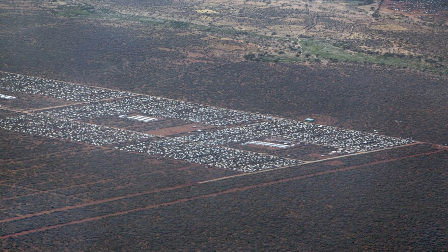 Parts of Dadaab, the world's largest refugee camp, are seen from a helicopter in 2012 in northern Kenya.