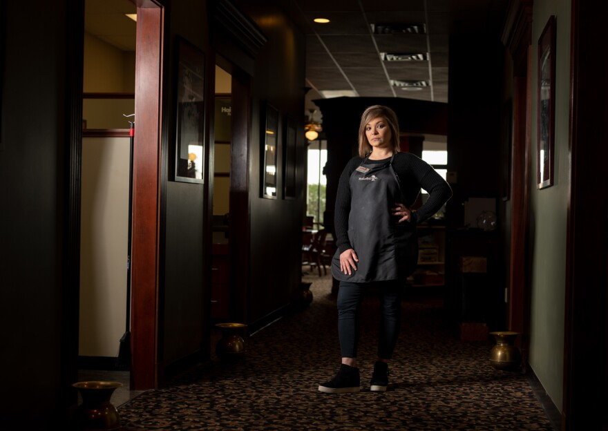 Jamie Conoyer, a hair stylist and manager at Hair Saloon in O'Fallon, Missouri, said she's worried her staff won't be able to make ends meet during the outbreak.