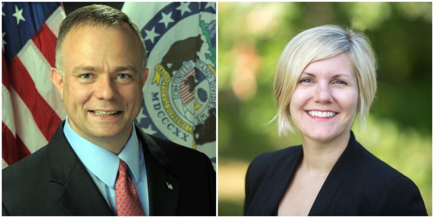 Greene County Clerk Shane Schoeller and Boone County Clerk Brianna Lennon