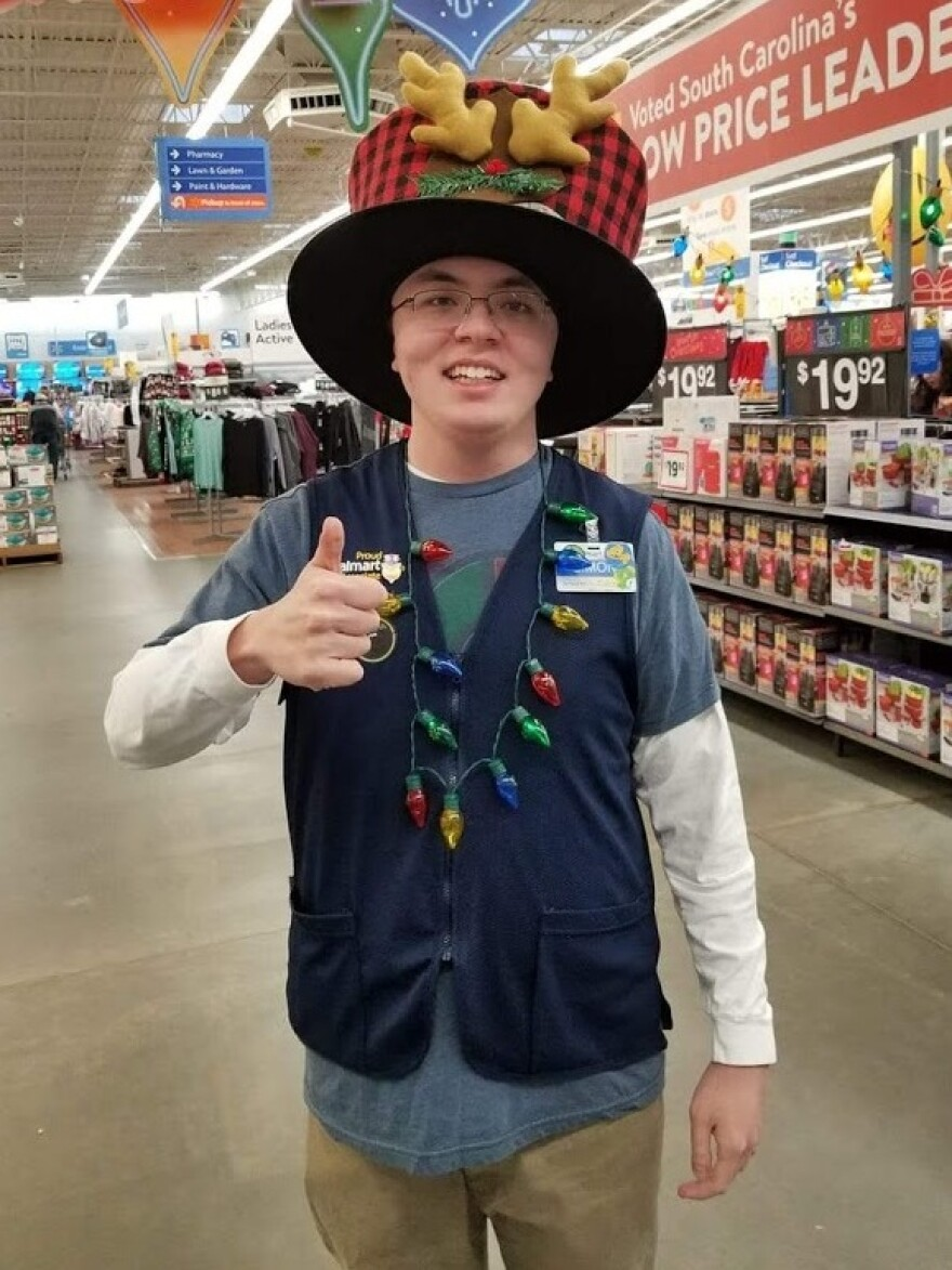 """I just don't understand why they just want to get rid of greeters,"" said Simon Cantrell, 21, who works as a ""people greeter"" at a Walmart in South Carolina."