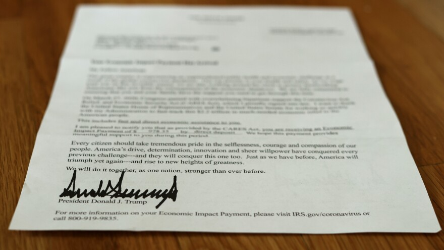 A letter bearing the signature of President Trump was sent to people who received a coronavirus relief payment as part of the CARES Act. Some of those payments went into the bank accounts of dead people.