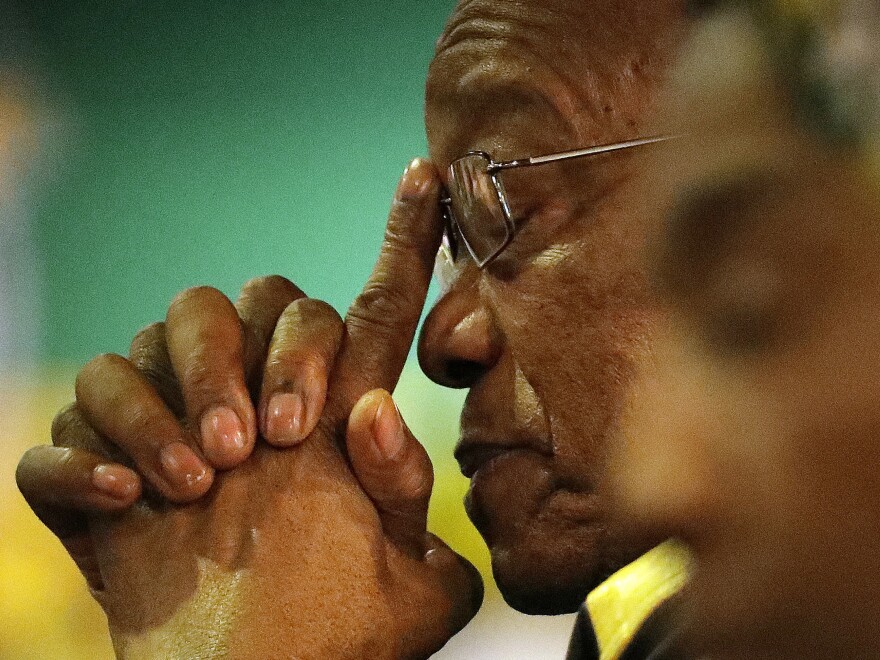 President Jacob Zuma at the African National Congress elective conference in Johannesburg last December.
