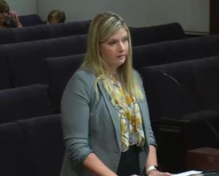 Kim Banks, the Chief Financial Officer for the Florida Department of Corrections, speaking earlier this month during a meeting of the Public Safety Legislative Budget Review.
