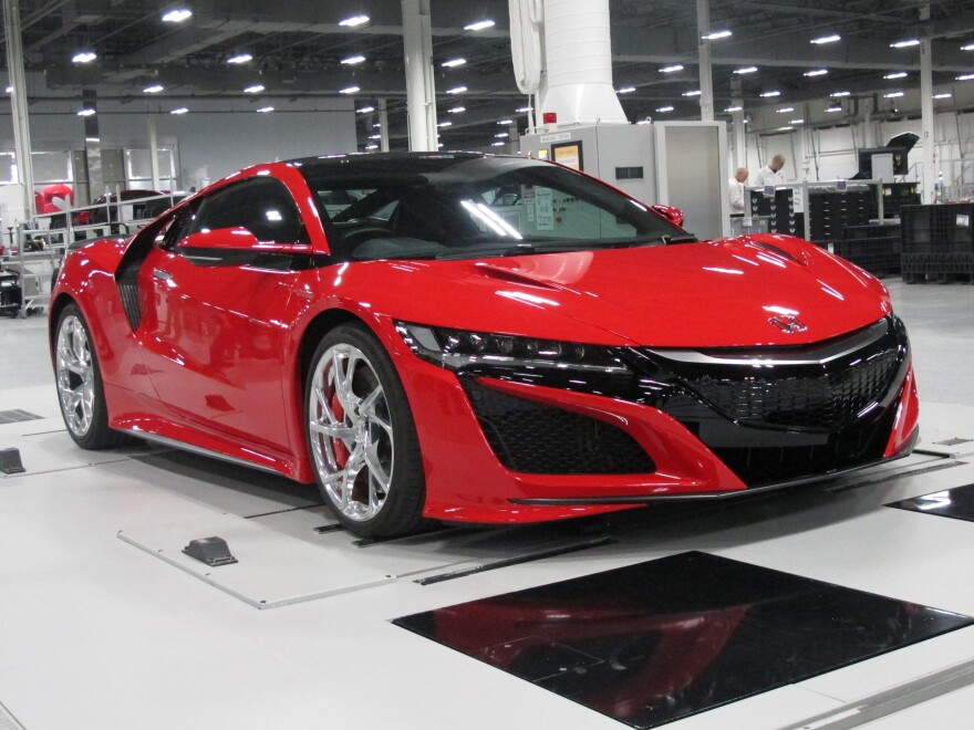 """Honda's goal with the new NSX is to build a """"halo"""" car — one that shines so brightly it creates a glow around all Acura models. It can go from zero to 60 mph in three seconds."""