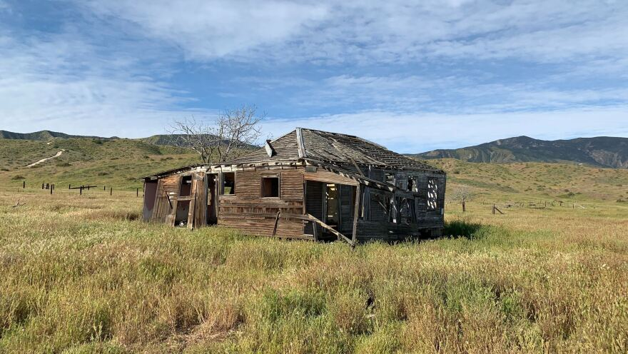 What's left of an abandoned ranch on the Carrizo Plain National Monument, where summers bring scorching temperatures and little, if any, rain.
