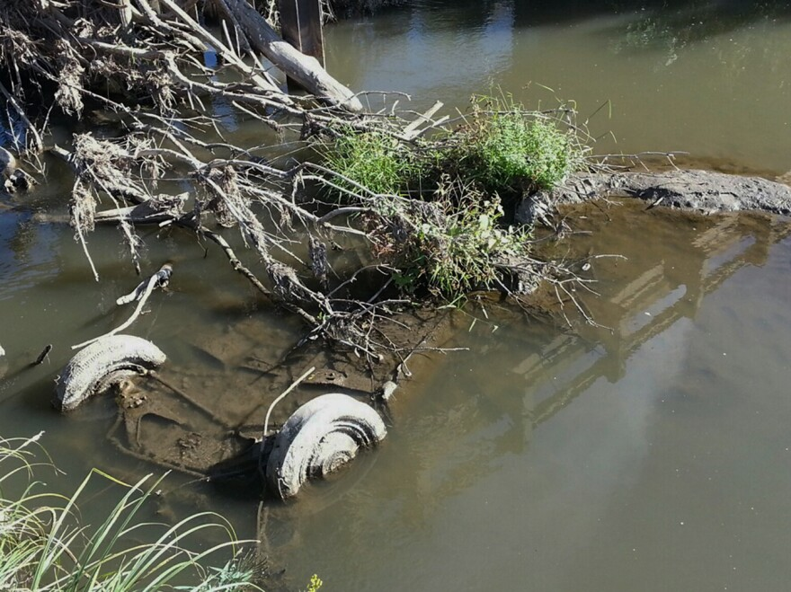 An undated photo provided by the South Dakota Attorney General's Office shows a Studebaker found this week in a creek near Elk Point, S.D. Two teenage girls from the area were last seen May 29, 1971, driving a car like it. Remains found in the vehicle may be those of the two teenagers.