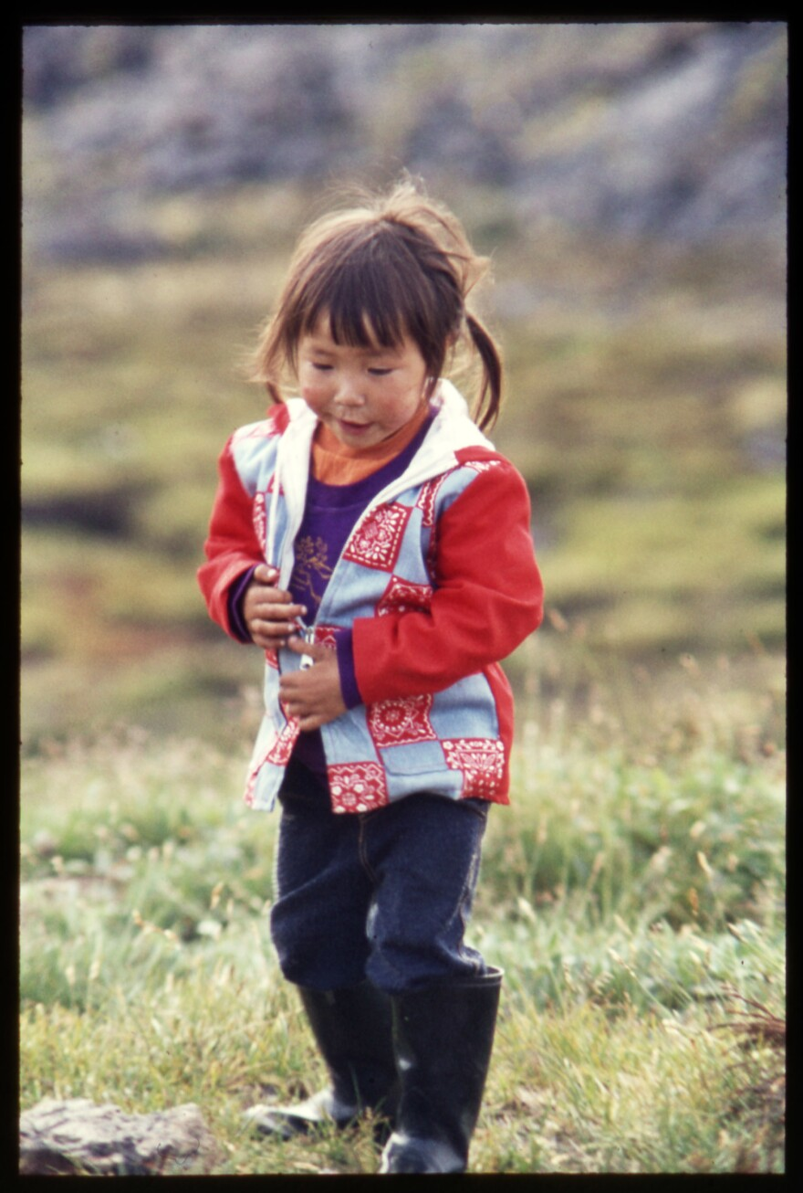 Inuit filmmaker and language teacher Myna Ishulutak as a little girl. Anthropologist Jean Briggs spent six months with the family in the 1970s documenting the child's upbringing.