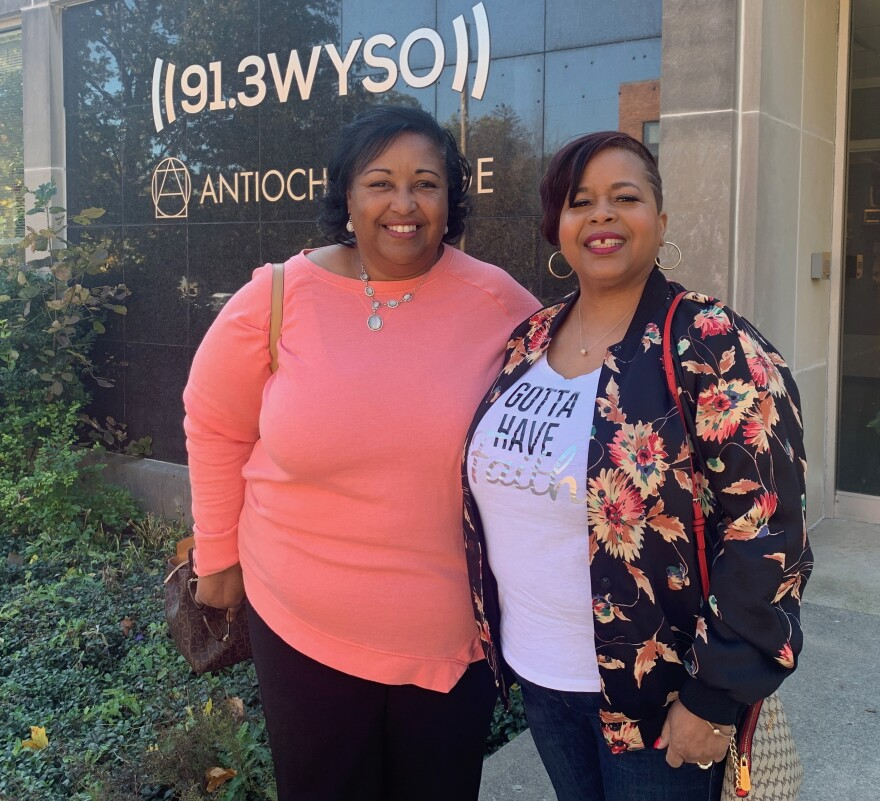 Longtime Trotwood residents Michelle Potter (L) and Terri Davis recently recorded at WYSO their recollections of surviving the 2019 tornado disaster.