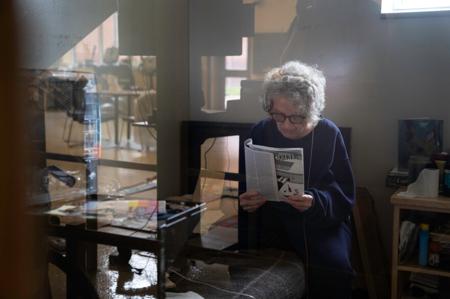 Tyler stays connected to what's happening in the world by reading <em>The New Yorker.</em> She also reads <em>The New York Times</em> and avidly watches CNN.