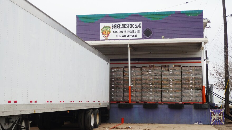Borderlands Food Bank's warehouse in Nogales, Ariz., is located on Produce Drive, surrounded by produce distribution warehouses.