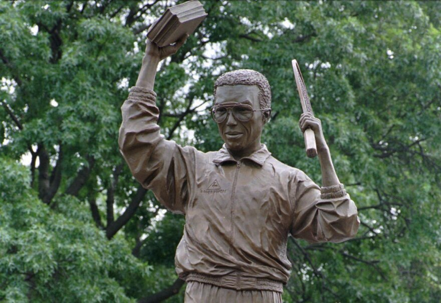 Paul Di Pasquale's statue of Arthur Ashe was unveiled on Monument Avenue in Richmond, Va., in 1996.