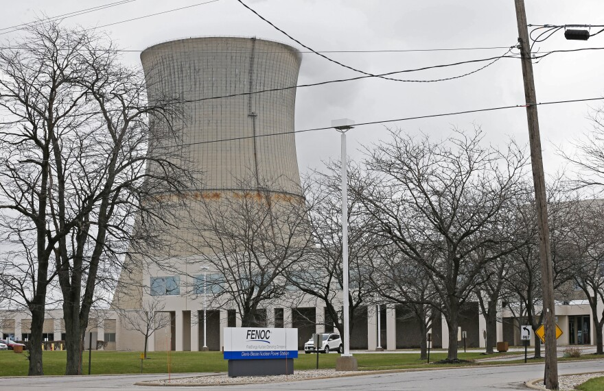 The entrance to FirstEnergy Corp.'s Davis-Besse Nuclear Power Station in Oak Harbor, Ohio.