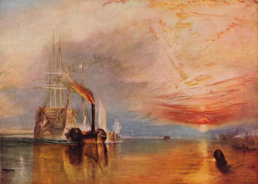 """""""The Fighting Temeraire,"""" Turner's 1839 painting which will appear on the new £20 bill."""