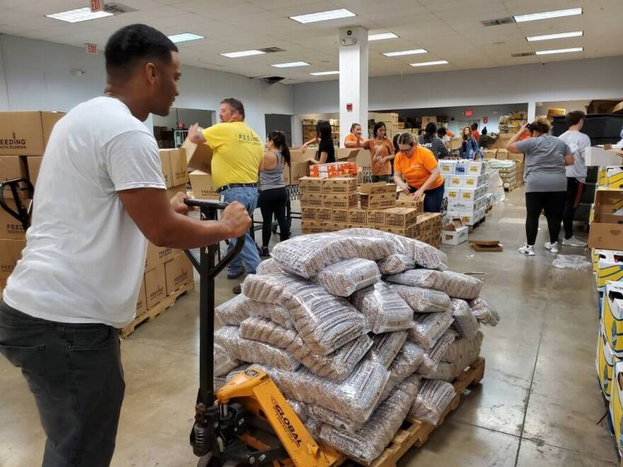 The nonprofit Feeding South Florida is coping with a high demand for its services amid the coronavirus health crisis.