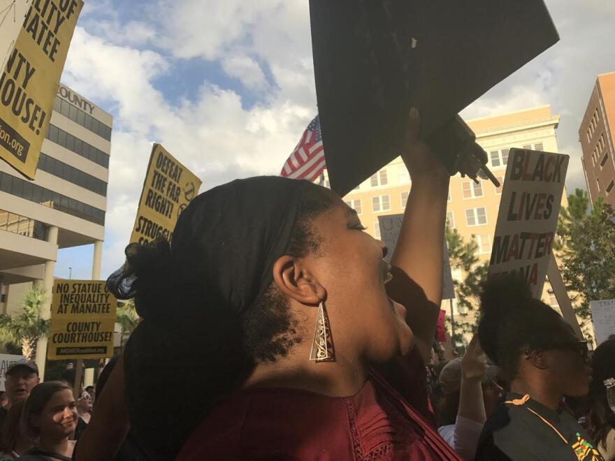 Queen Meccasia Zabriskie is a leader of Black Lives Matter Manasota.