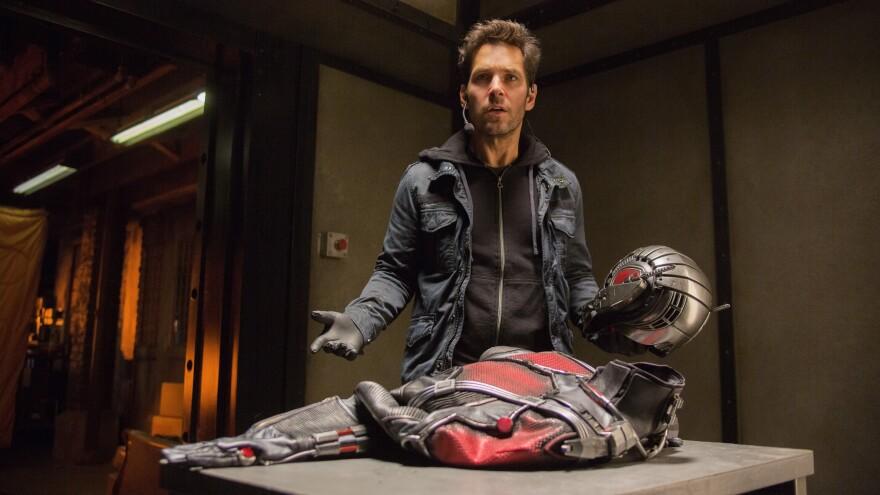 Paul Rudd in Marvel's <em>Ant-Man</em>.