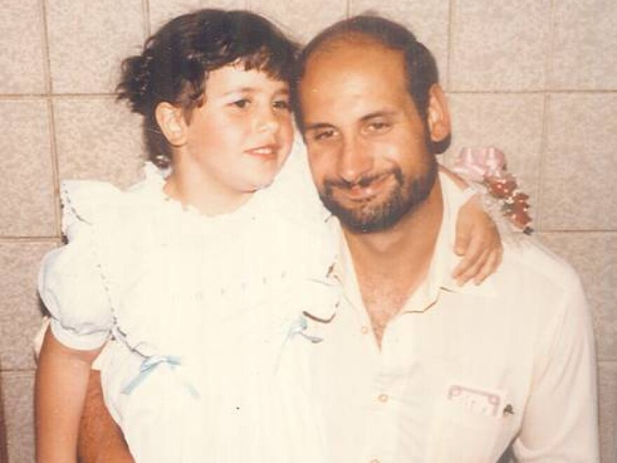 Christiana Pappas and her dad.