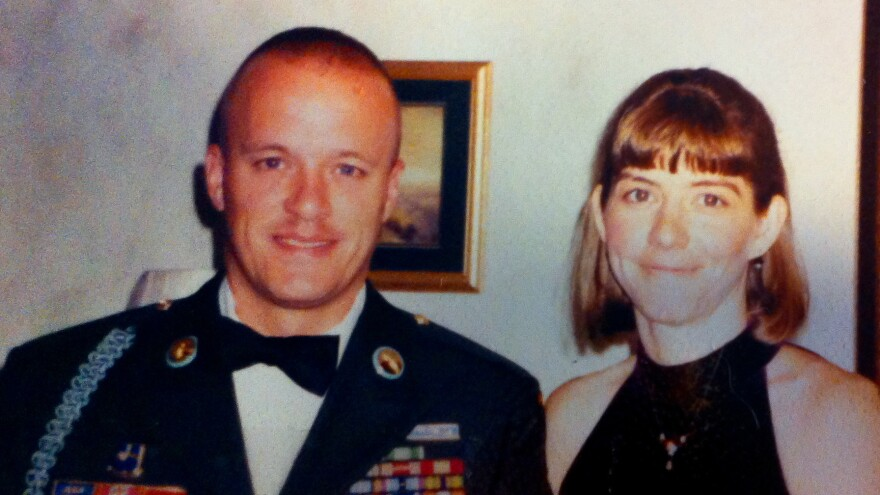Chris and Jenna attend a military ball in the early 2000s.