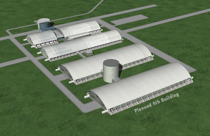 Plan for a fourth building at the Air Force Museum.