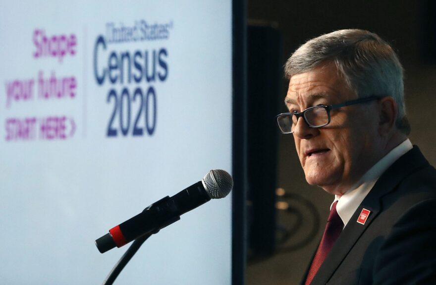 Steven Dillingham, director of the Census Bureau, speaks while unveiling the advertising outreach campaign for the 2020 Census in Washington, DC.