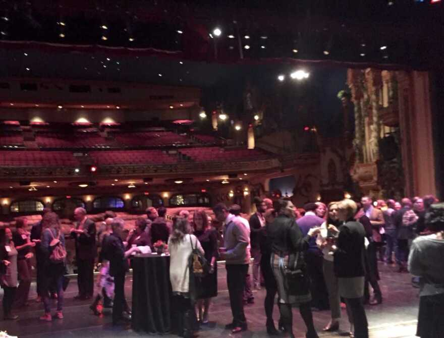 Awards reception, on-stage at the Civic Theatre