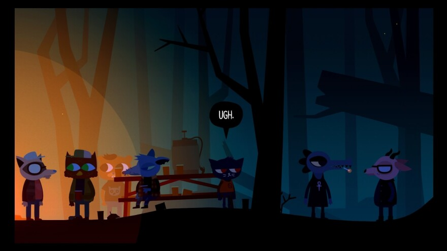 A relatable moment from <em>Night in the Woods.</em>
