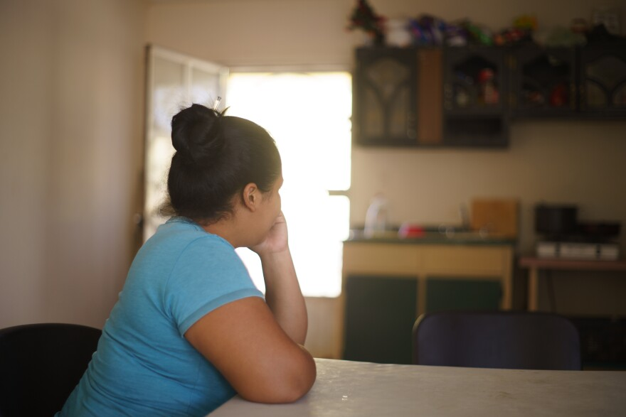 Cinthia, 24, from Honduras, is staying at the Pan de Vida Migrant Shelter in Juárez while she waits out her case. Like many others, her asylum case has been delayed due to the pandemic.