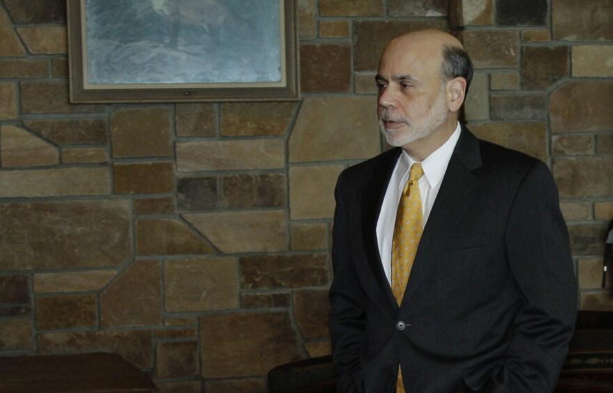 Federal Reserve Chairman Ben Bernanke arrives for a dinner at the Jackson Hole Economic Symposium on Thursday.