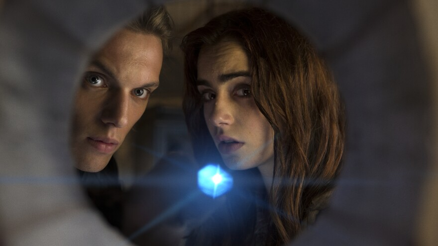Jace (Jamie Campbell Bower) and Clary (Lilly Collins) are Shadowhunters — they are teens, and they are special — in the first of a threatened series of half a dozen films based on Cassandra Clare's <em>Mortal Instruments</em> novels for young adults. Or perhaps, at 2 hours 10 minutes, this is all six films. We may have misunderstood.