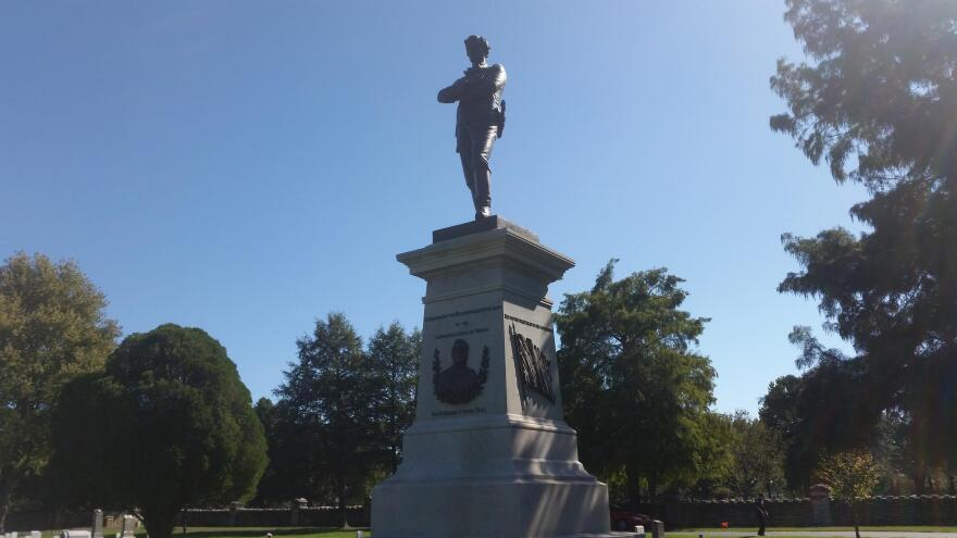 Statue in the Springfield National Cemetery honoring confederate soldiers and former Missouri Gov. Sterling Price.