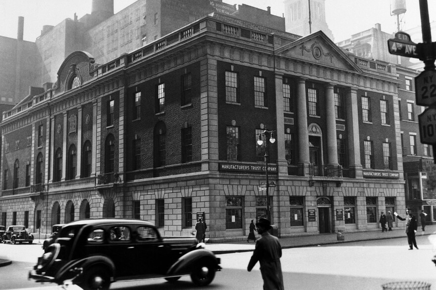 Seen here in 1935, the building that housed Manhattan's Democratic Party, known as Tammany Hall, still stands today.