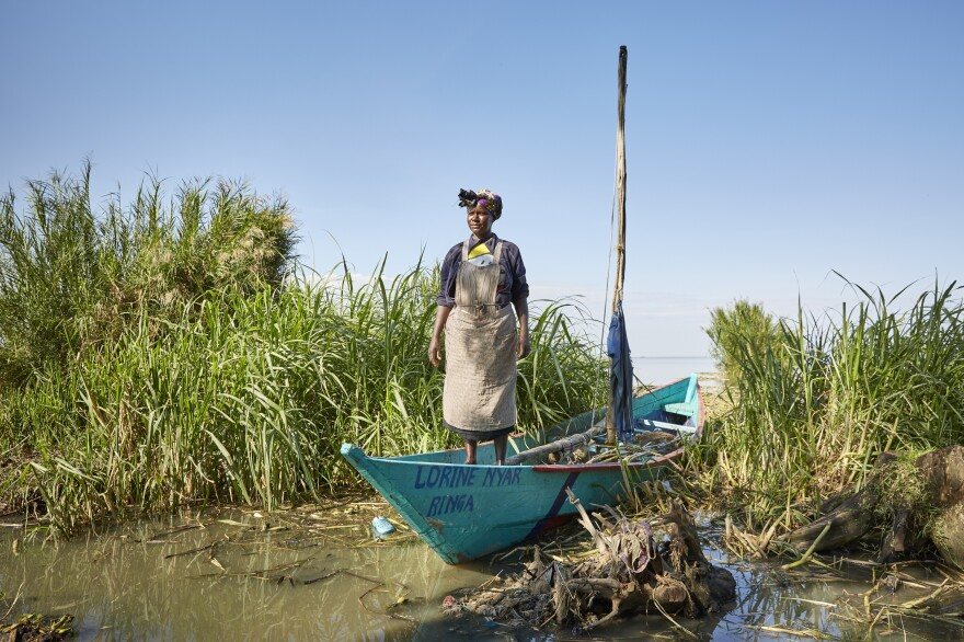 Lorine Abuto has one of the few No Sex For Fish boats that are still functioning in Nduru Beach.