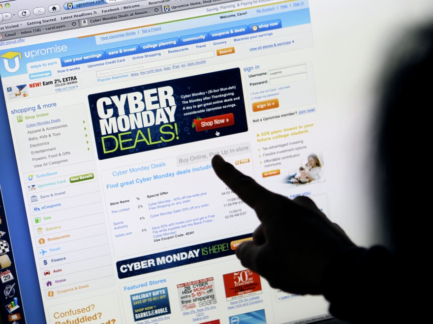 Online shopping during Cyber Monday rose more than 28 percent from a year ago, according to IBM Benchmark.