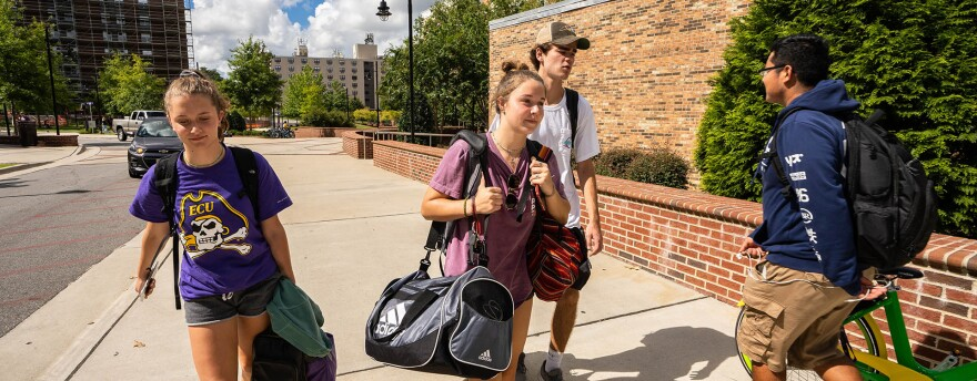ECU officials announced a mandatory evacuation notice for students. Residence halls are closing starting 10 a.m. Wednesday.