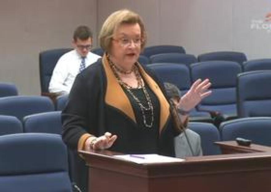 Florida Department of Corrections Secretary Julie Jones speaking to members of the House Criminal Justice Subcommittee Wednesday.