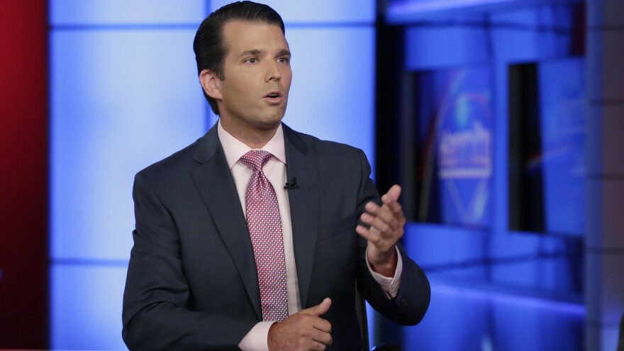 Donald Trump Jr. met with two Russians in an effort to gather opposition research into Hillary Clinton last June.