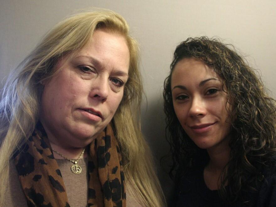 Barbara Amaya and her daughter, Bianca Belteton, at a visit to StoryCorps in Arlington, Va.
