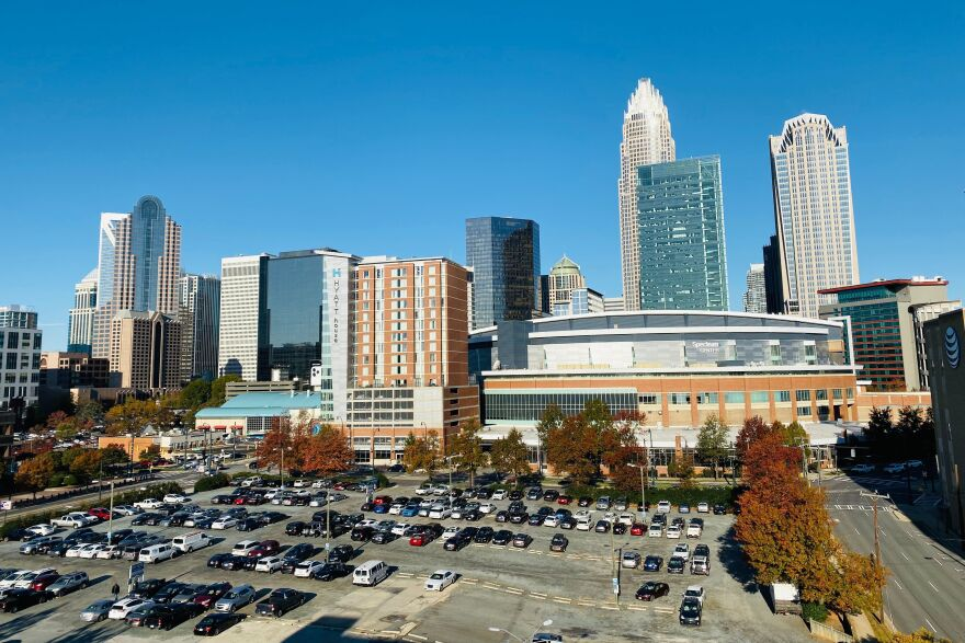 The Spectrum Center in Uptown Charlotte, N.C., will be the site of the 2020 Republican National Convention. Once reliably Republican, Charlotte has been transformed by an influx of immigrants, along with migration from the Northeast United States.