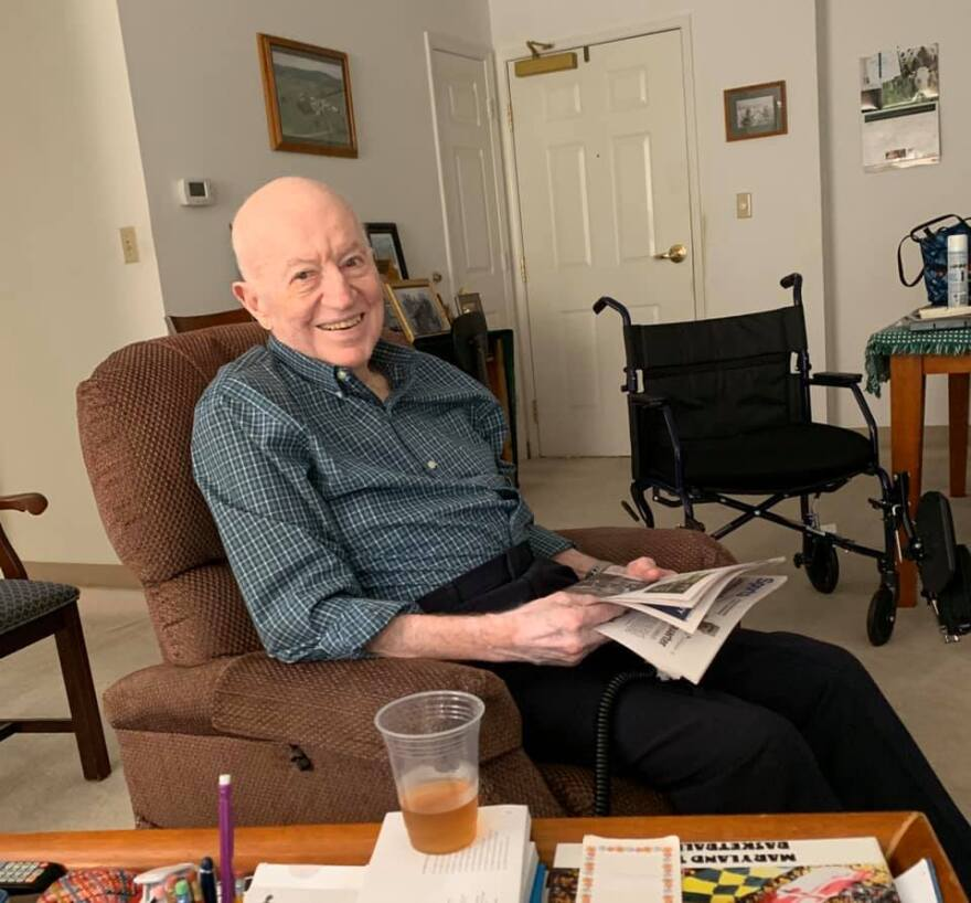 Dick Holter, father of Rick Holter, vice president of news, spent his last 15 years living in a retirement center in Frederick, Maryland. He died there on April 10.