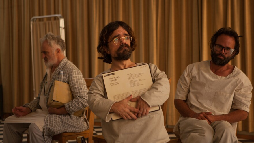 <em>Three Christs</em>, No Waiting: Joseph (Bradley Whitford), Leon (Peter Dinklage) and Clyde (Walton Goggins) in Jon Avnet's film.