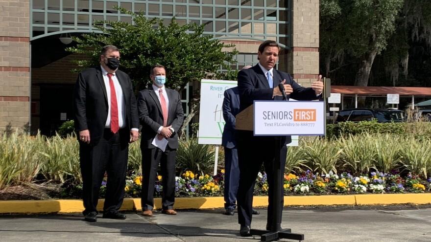 Gov. Ron DeSantis touts vaccine rollout at Jacksonville's River Garden Hebrew Home.