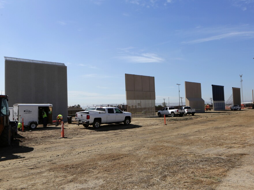 Competitors who are hoping to gain approval to build the border wall have until the end of the month to complete their work.