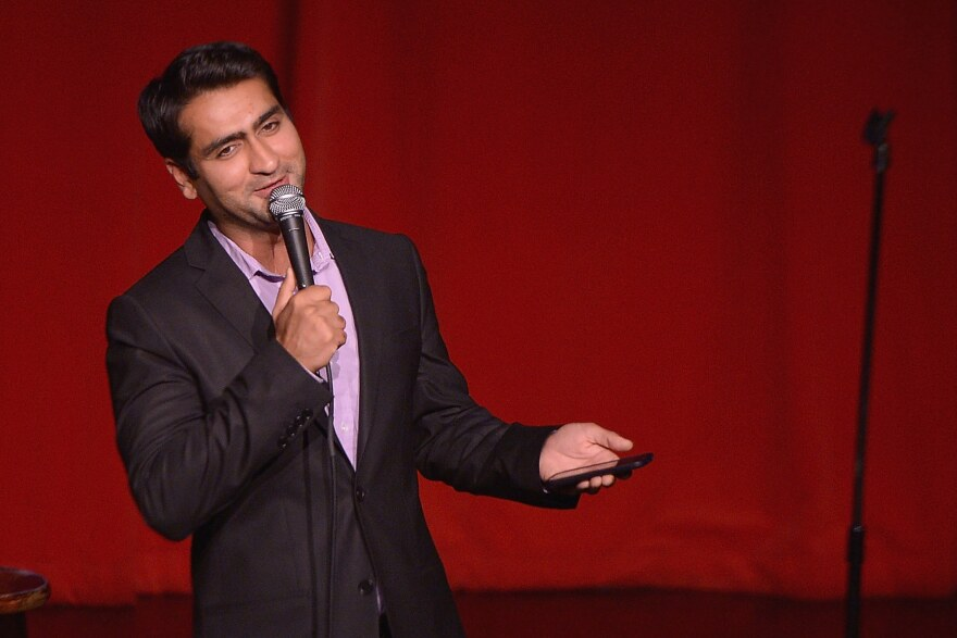 Comedian Kumail Nanjiani performs during One Kid One World's 3rd Annual Night Of (At Least) 18 Laughs at Largo on April 27, 2014 in Los Angeles.