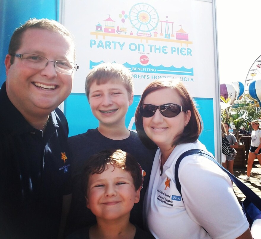 The Tate family, David, Bradley, Lucas and Kristel, struggled when youngest son Lucas was diagnosed with acute lymphoblastic leukemia in 2009. David credits the Affordable Care Act for providing security and peace of mind in the years after his son's diagnosis and treatment.
